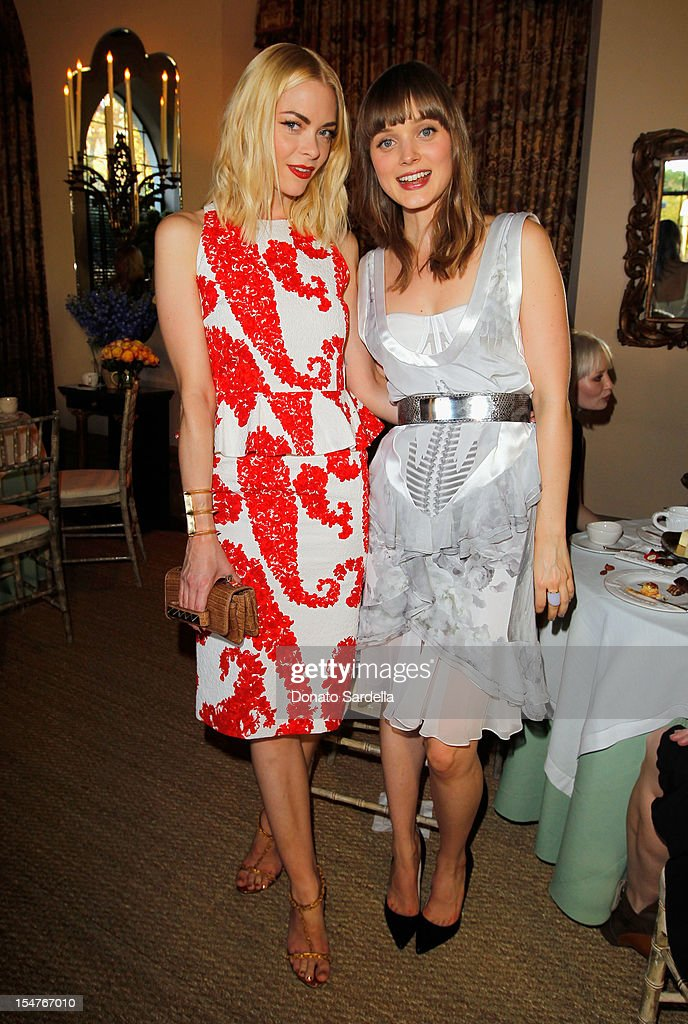 Actors Jaime King and Bella Heathcote attend CFDA/Vogue Fashion Fund Event hosted by Lisa Love and Mark Holgate and sponsored by Audi, Beauty.com, American Express, and J Brand at Chateau Marmont on October 25, 2012 in Los Angeles, California.