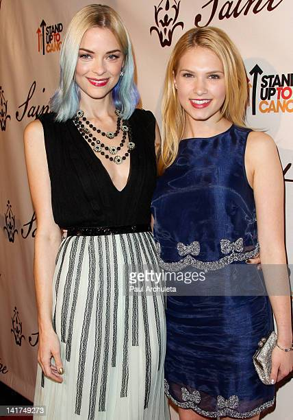 Actors Jaime King and Claudia Lee attend the Saint Vintage Love Tour benefiting Stand Up 2 Cancer at The Andaz on March 22 2012 in West Hollywood...