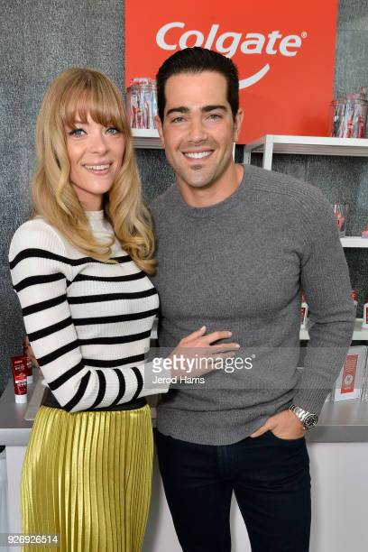 Actors Jaime King and Jesse Metcalfe were among the celebrities in attendance at the Colgate¨ Optic White¨ Beauty Lab on March 3 2018 in Los Angeles...