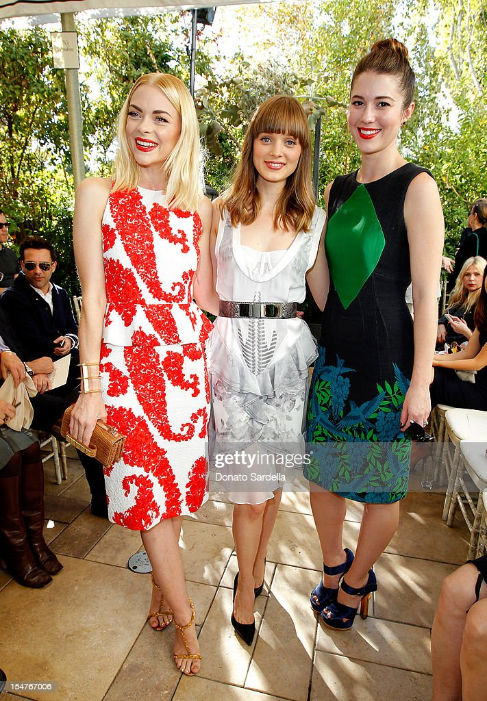 Actors Jaime King, Bella Heathcote and Mary Elizabeth Winstead attend CFDA/Vogue Fashion Fund Event hosted by Lisa Love and Mark Holgate and sponsored by Audi, Beauty.com, American Express, and J Brand at Chateau Marmont on October 25, 2012 in Los Angeles, California.