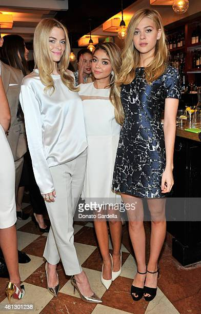Actors Jaime King Sarah Hyland and Nicola Peltz attend Lynn Hirschberg Celebrates W's It Girls with Piaget and Dom Perignon at AOC on January 10 2015...