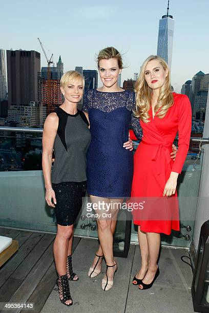 Actors Jaime Pressly Missi Pyle and Nora Kirkpatrick attend TV Land's Jennifer Falls premiere party at Jimmy At The James Hotel on June 2 2014 in New...