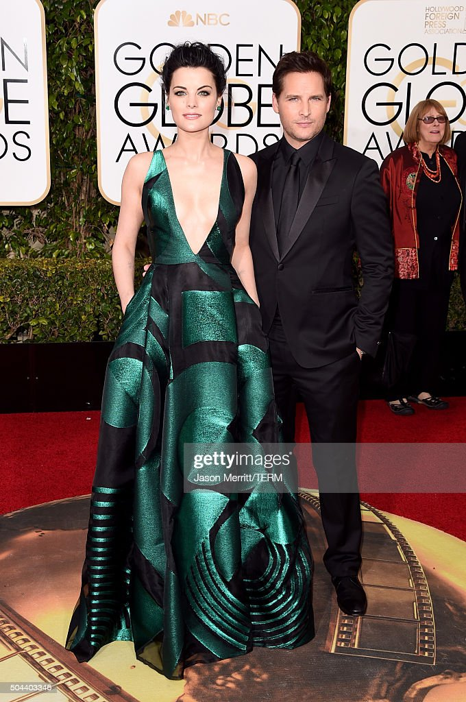 Actors Jaimie Alexander and Peter Facinelli attend the 73rd Annual Golden Globe Awards held at the Beverly Hilton Hotel on January 10, 2016 in Beverly Hills, California.