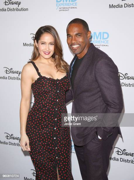Actors Jaina Lee Ortiz and Jason George attend the Disney/ABC International Upfronts at the Walt Disney Studio Lot on May 20, 2018 in Burbank,...