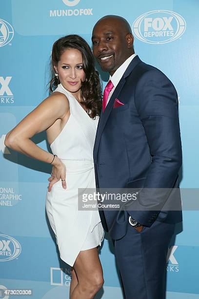 Actors Jaina Lee Ortiz and Morris Chestnut attend the 2015 FOX programming presentation at Wollman Rink in Central Park on May 11 2015 in New York...