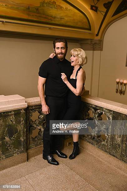 Actors Jake Gyllenhaal and Ellen Greene attend the opening night of the New York City Center Encores OffCenter production of 'Little Shop of Horrors'...