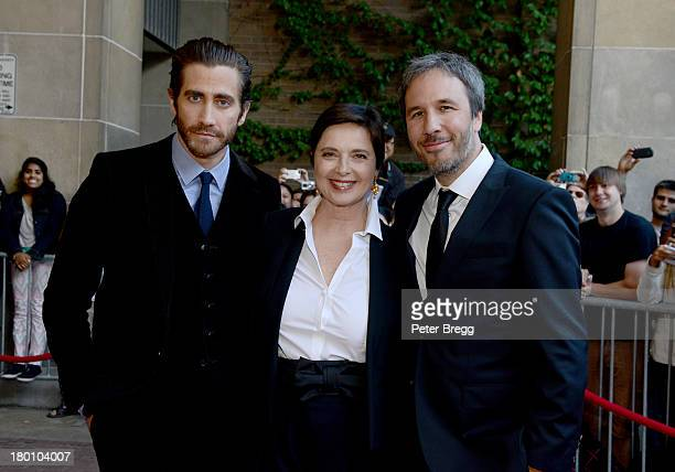 Actors Jake Gyllenhaal and Isabella Rossellini and director Denis Villeneuve attend the premiere of 'Enemy' during the 2013 Toronto International...