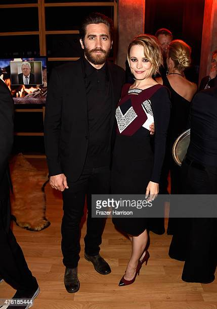 Actors Jake Gyllenhaal and Rachel McAdams attends Spike TV's Guys Choice 2015 at Sony Pictures Studios on June 6 2015 in Culver City California