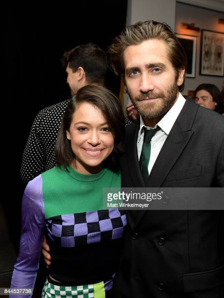 Actors Jake Gyllenhaal and Tatiana Maslany attend Stronger premiere party hosted by GREY GOOSE vodka and Soho House on September 8 2017 in Toronto...