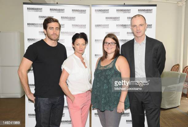 Actors Jake Gyllenhaal Michelle Gomez Annie Funke and Brian F O'Byrne take part in the 'If There Is I Haven't Found It Yet' Cast Photo Call on July...