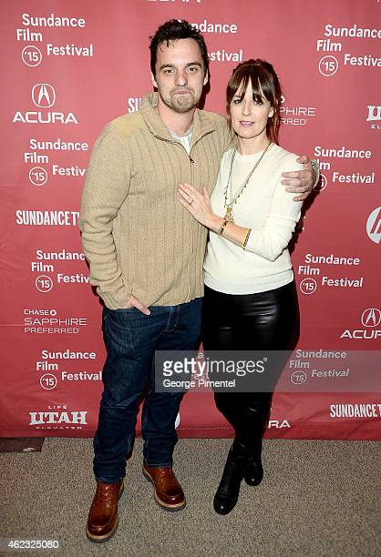 Actors Jake Johnson and Rosemarie DeWitt attends 'Digging For Fire' premiere during the 2015 Sundance Film Festival on January 26 2015 in Park City...