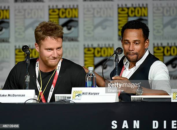 Actors Jake McDorman and Hill Harper attend CBS TV Studios' panel for Limitless during ComicCon International 2015 at the San Diego Convention Center...