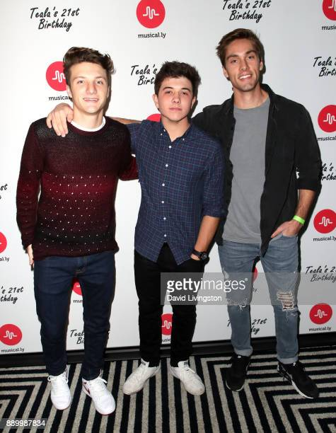 Actors Jake Short Austin North and Bradley Steven attend Teala Dunn's 21st birthday party on December 10 2017 in Los Angeles California