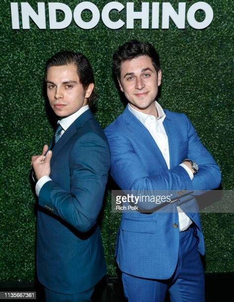 Actors Jake T Austin and David Henrie attend Indochino Los Angeles Spring/Summer '19 Launch Party at SkyBar at the Mondrian Los Angeles on March 13...