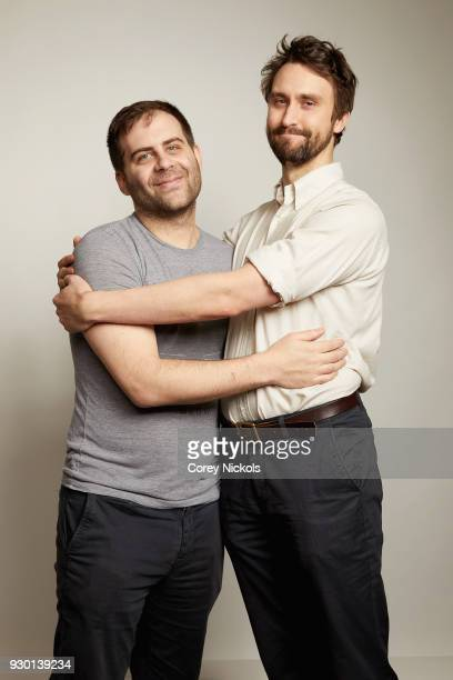 Actors Jake Weisman and Matt Ingebretson from the show 'Corporate' pose for a portrait in the Getty Images Portrait Studio Powered by Pizza Hut at...
