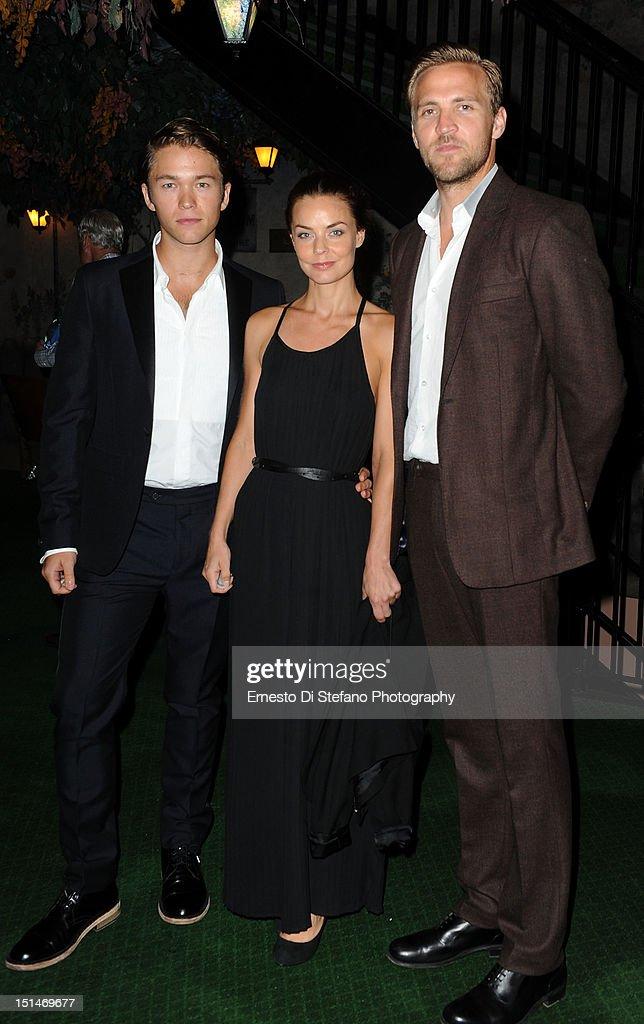 Actors Jakob Oftebro, Agnes Kittelsen and Tobias Santelmann attend the 'Kon-Tiki' premiere during the 2012 Toronto International Film Festival on September 7, 2012 in Toronto, Canada.