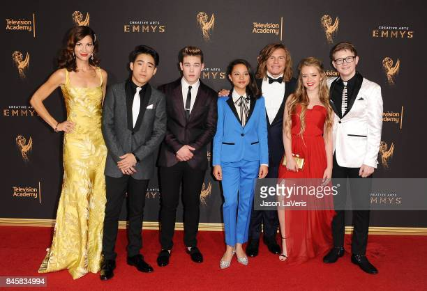 Actors Jama Williamson Lance Lim Ricardo Hurtado Breanna Yde Tony Cavalero Jade Pettyjohn and Aidan Miner attend the 2017 Creative Arts Emmy Awards...