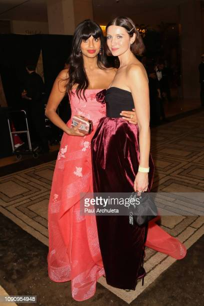 Actors Jameela Jamil and Caitriona Balfe are seen in Beverly Hills on January 06 2019 in Los Angeles California