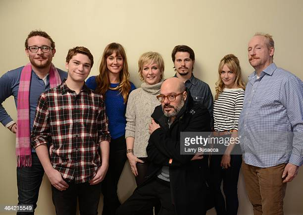 Actors James Adomian Jake Cherry Erinn Hayes and Amy Carlson filmmaker David Cross and actors Jason Ritter Meredith Hagner and Matt Walsh pose for a...