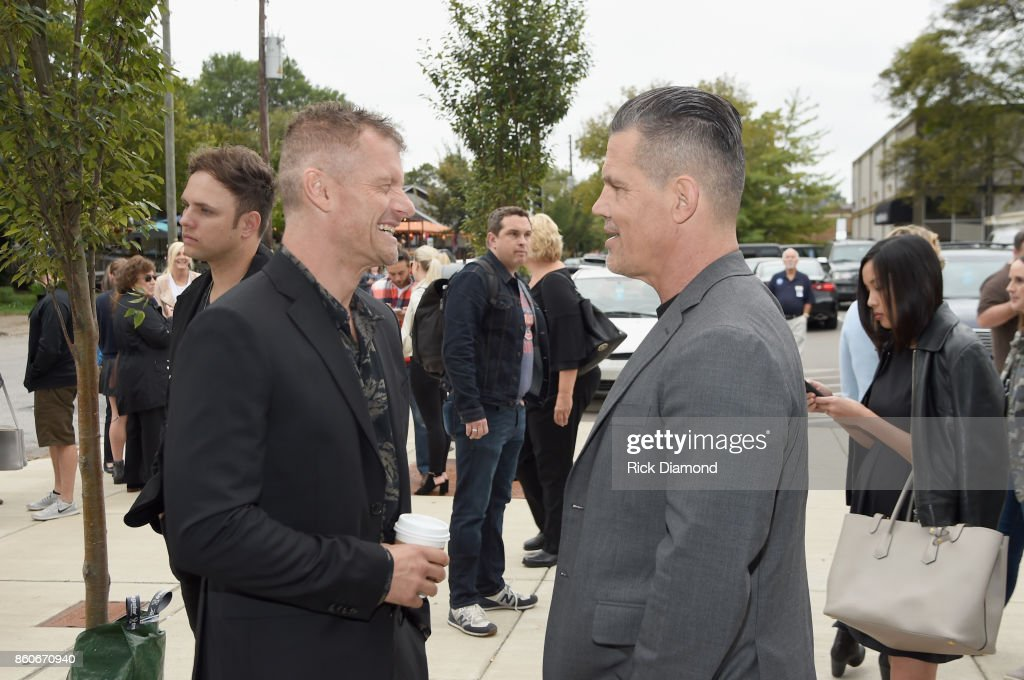 Actors James Badge Dale and Josh Brolin attend 'Only The Brave' Nashville screening hosted by Dierks Bentley at The Belcourt Theatre on October 12, 2017 in Nashville, Tennessee.