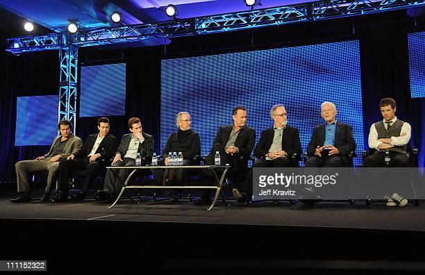 Actors James Badge Dale Jon Seda Joe Mazzello executive producers Steven Spielberg Tom Hanks Gary Goetzman Dr Sidney Phillips and actor Ashton Holmes...