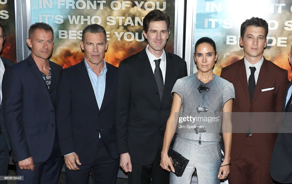 Actors James Badge Dale, Josh Brolin, director Joseph Kosinski, actors Jennifer Connelly and Miles Teller attend the 'Only The Brave' New York screening at iPic Theater on October 17, 2017 in New York City.