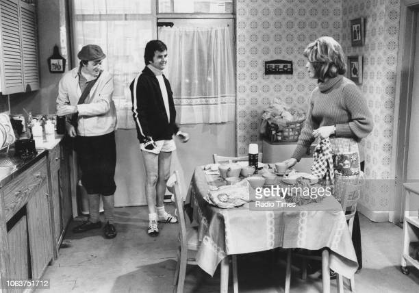 Actors James Bolam and Rodney Bewes in a prison scene from the television sitcom 'Whatever Happened to the Likely Lads' November 29th 1973