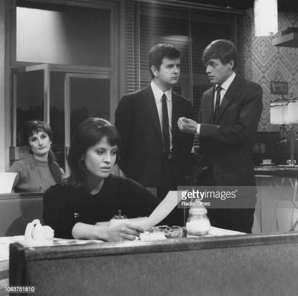 Actors James Bolam and Rodney Bewes in an office scene from 'The Likely Lads' episode 'Brief Encounter' May 15th 1966