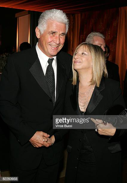 Actors James Brolin and wife Barbra Streisand attend the Governors Ball after the 77th Annual Academy Awards at The Highlands on February 27 2005 in...