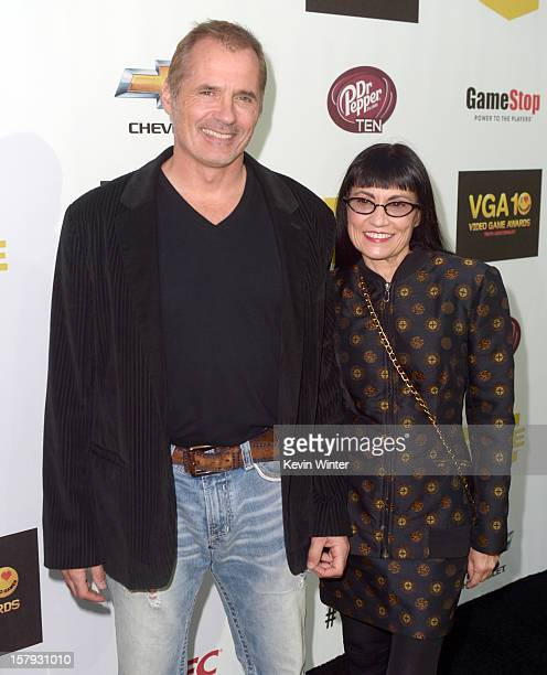 Actors James C Burns and Nancye Ferguson arrive at Spike TV's 10th annual Video Game Awards at Sony Pictures Studios on December 7 2012 in Culver...