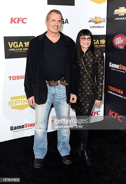 Actors James C Burns and Nancye Ferguson arrives at Spike TV's 10th annual Video Game Awards at Sony Pictures Studios on December 7 2012 in Culver...