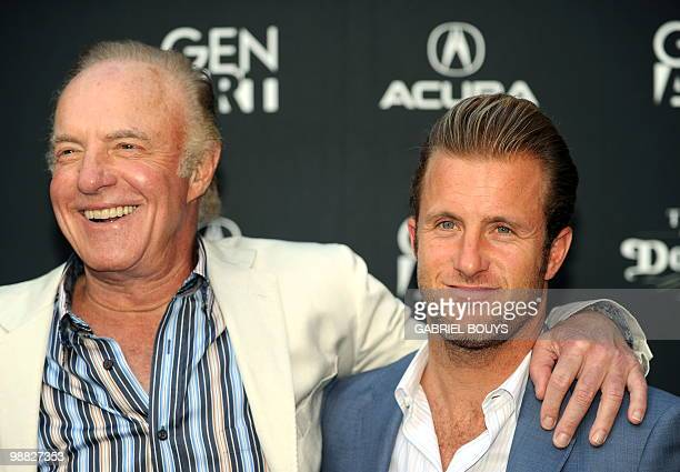 Actors James Caan and his son Scott Caan arrive at the premiere of Mercy at the Egyptian Theater in Hollywood California on May 3 2010 AFP PHOTO /...