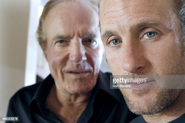 Actors James Caan and his son Scott Caan pose for a portrait session on May 3 2010 at the Chateau Marmont in Hollywood CA Published Image CREDIT MUST...