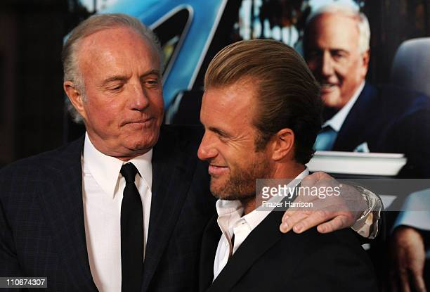 Actors James Caan and Scott Caan arrives at the premiere of the HBO documentary 'His Way' at Paramount Studios on March 22 2011 in Hollywood...