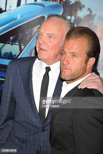 Actors James Caan and son Scott Caan arrive at the premiere of the HBO documentary His Way held at Paramount Studios in Hollywood