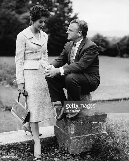 Actors James Cagney and Dana Wynter filming scenes for the movie 'Shake Hands With the Devil' in Dublin September 19th 1958