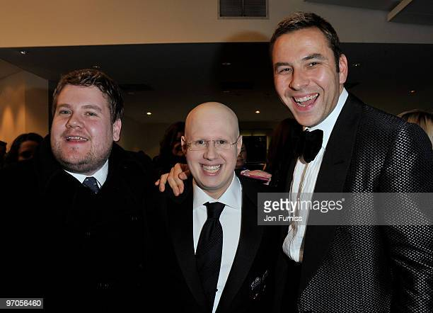Actors James Corden Matt Lucas and David Walliams attend the Royal World Premiere of Tim Burton's 'Alice In Wonderland' at the Odeon Leicester Square...
