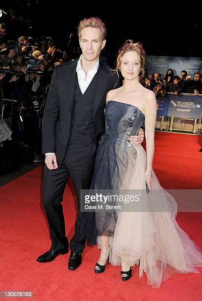 Actors James D'Arcy and Andrea Riseborough attend the Premiere of W.E. During the 55th BFI London Film Festival at Empire Leicester Square on October...