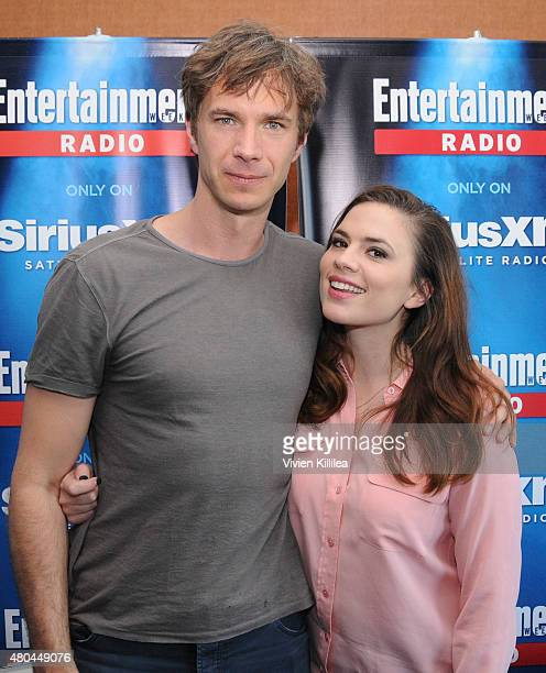 Actors James D'Arcy and Hayley Atwell attend SiriusXM's Entertainment Weekly Radio Channel Broadcasts From Comic-Con 2015 at Hard Rock Hotel San...