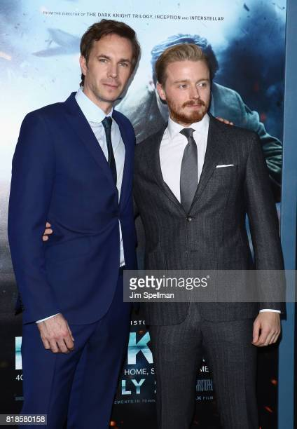 Actors James D'Arcy and Jack Lowden attend the 'DUNKIRK' New York premiere at AMC Lincoln Square IMAX on July 18 2017 in New York City