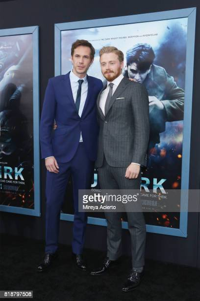 Actors James D'Arcy and Jack Lowden attend the 'DUNKIRK' New York Premiere on July 18 2017 in New York City