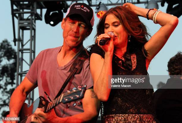 Actors James Denton and Teri Hatcher attend 2nd Annual Wisteria Lane Block Party at Universal Studios Backlot on April 21 2012 in Universal City...