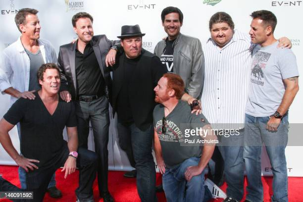 Actors James Denton Bob Guiney Chris Harrison Greg Grunberg Scott Grimes Eddie Matos Jorge Garcia and Adrian Pasdar attend Hollywood gives back to...