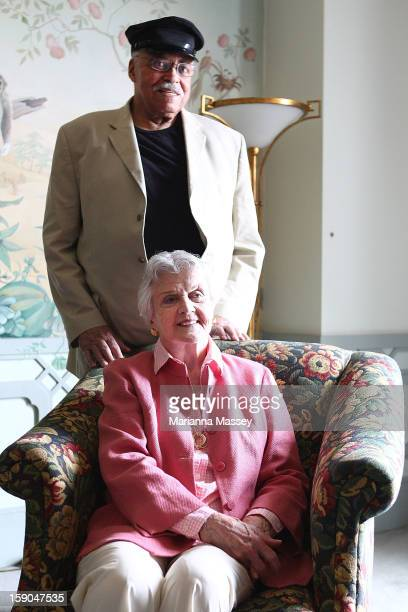 Actors James Earl Jones and Angela Lansbury pose for a photo during a Driving Miss Daisy photo call on on January 7 2013 in Sydney Australia