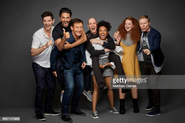 Actors James Frain Shazad Latif Jason Isaacs Doug Jones Sonequa MartinGreen Mary Wiseman and Anthony Rapp from Star Trek Discovery are photographed...