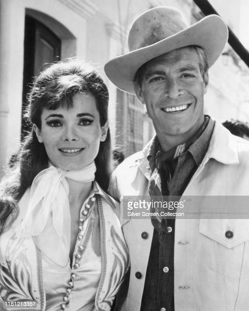 Actors James Franciscus as Tuck Kirby and Gila Golan as TJ in the film 'The Valley of Gwangi' 1969