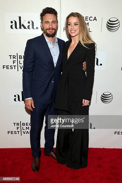 Actors James Franco and Amber Heard attend the premiere of The Adderall Diaries during the 2015 Tribeca Film Festival at BMCC Tribeca PAC on April 16...