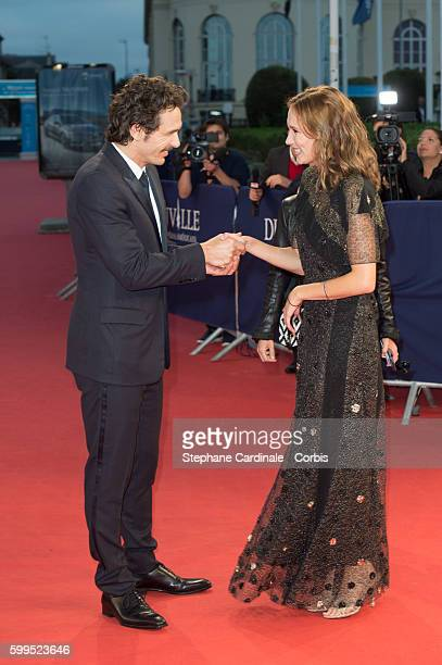 Actors James Franco and Ana Girardot attend the 'In Dubious Battle' Premiere during the 42nd Deauville American Film Festival on September 5 2016 in...