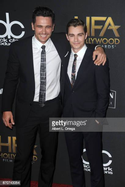 Actors James Franco and Dave Franco arrives for the 21st Annual Hollywood Film Awards held at The Beverly Hilton Hotel on November 5 2017 in Beverly...