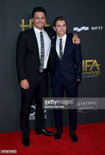 Actors James Franco and Dave Franco attend the 21st Annual Hollywood Film Awards at The Beverly Hilton Hotel on November 5 2017 in Beverly Hills...